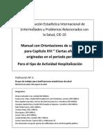 Codificación CIE 10