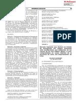Decreto Supremo N° 190-2019-PCM que declara en emergencia a 13 distritos de Lima Metropolitana por peligro de inundaciones