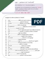 Present de Lindicatif 2e Groupe Verbes Issant Exercice Grammatical Feuille Dexercices 49593