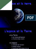 l espace et la terre