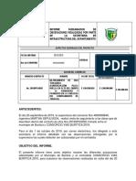 informe subsanacion PAVIMENTACION VIA