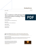 Contribution of Morphological Knowledge
