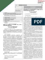 Decreto Supremo 025