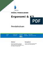 Modul 1 Ergomoni & K3 01 SAL Ver1.0