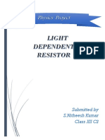 Physics Investigatory Project LIGHT DEPE