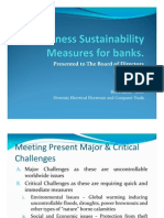 Business Sustainability Measures for Banks