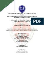 Teorías Criminológicas, Grupo No. 8 PDF
