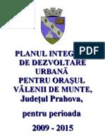 Plan Integrat de Dezvoltare Urbana Al Orasului Valenii de Munte