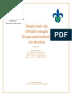 RESUMEN OFTALMO DESPRENDIMIENTO DE RETINA EQUIPO 3