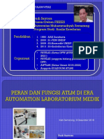 PERAN DAN FUNGSI ATLM DI ERA  AUTOMATION LABORATORIUM MEDIK.pptx