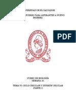 Biologia Tema 6 Ciclo Celular y División Celular (Parte I)