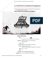 ONE Esports Dota 2 World Pro Invitational Singapore
