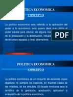 Política Económica Conceptos