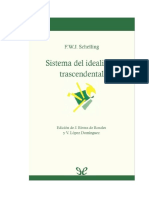 Schelling Friedrich - Sistema Del Idealismo Trascendental