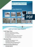 Presentation for MCB Testing Equipments