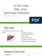 Nutrition for Liver Gallbladder and Pancreas Diseases