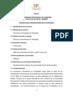 Tecnicatura Universitaria en Fotografía DEFINITIVO 26 09 2019