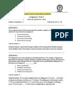 NPTEL ML Assignment Week1