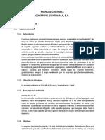 Manual Contable Construye Guatemala S.A