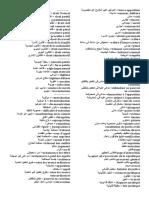 Terminologie Juridique Arabe Français