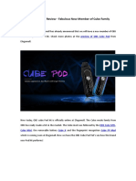 OBS Cube Pod Review - Fabulous New Member of Cube Family
