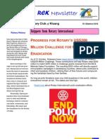 RCK Newsletter Volume 30 Issue 19