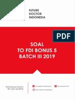 Soal to Fdi Bonus v Batch Agustus 2019