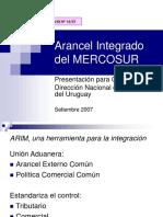 Ccm 2007 Acta06 Ane07 Di13-07 Arancel Integrado Del Mercosur-uy