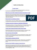 Health and Safety News 24 November 2010