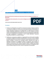 CONSENSO DE BEIJING SOBRE LA INTELIGENCIA ARTIFICIAL Y LA EDUCACIÓN