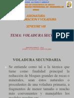 Voladura Secundaria