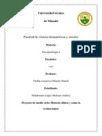 Proyecto de Medio Ciclo Psicopatologia