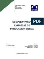 Cooperativas y empresas de produccion social