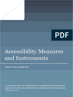accessibility measures and instrument
