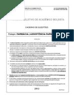 prova Assistencia farm. 2012