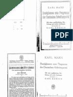 Karl Marx - Randglossen... (Ed. K. Korsch)