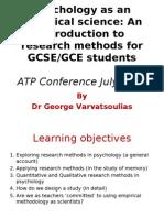 Research Methods Presentation-July2010
