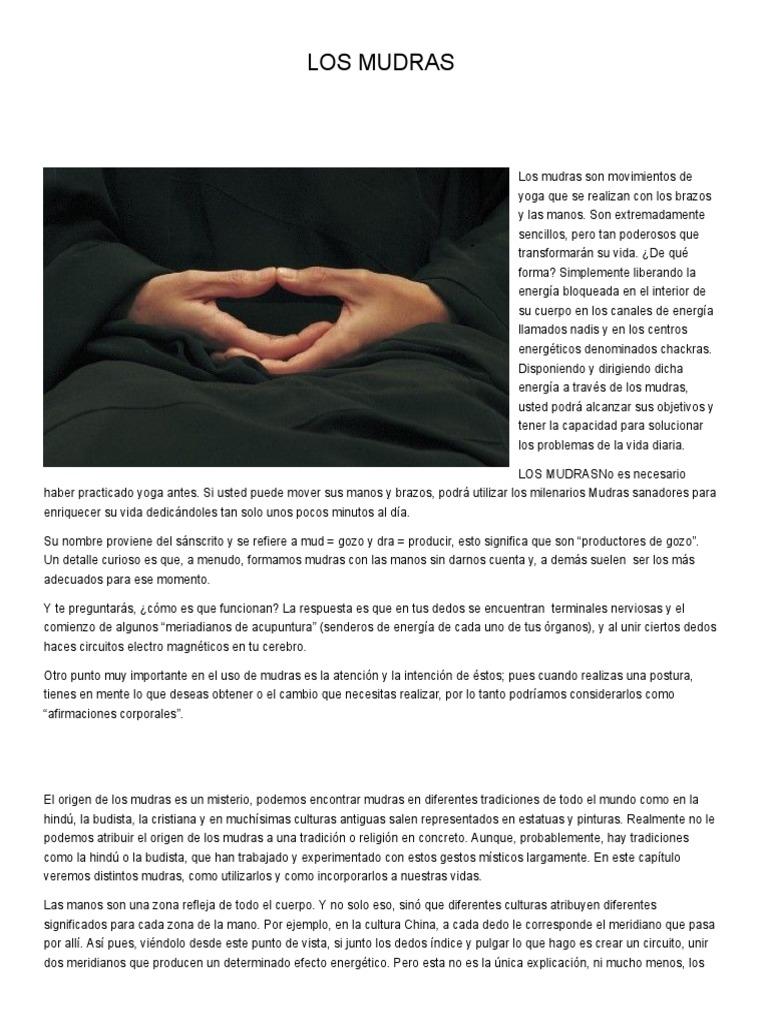 Los Mudras Meditación Yoga