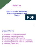 Chapter 1- Transaction Management