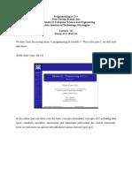 Lec 02 Module 01_ Recap of C (Lecture 02)
