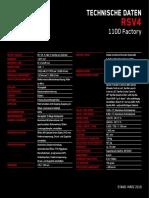 Aprilia Td 2019 Rsv4-1100-Factory