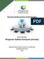 RPS Pengantar Aplikasi Komputer S1 Akuntansi 2015