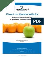 Mobile vs Fixed WiMAX