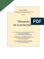 FASSIN_Demarche_de_la_recherche