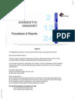 Domestic Inquiry Procedures Reports 5