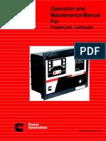 Cummins PowerCom Controller Operation Manual