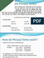 Phrasal verbs- Grammar