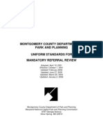 Uniform Standards for Mandatory Referral Review - Updated January 2, 2008