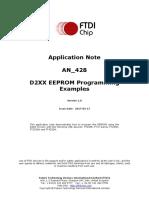 FTDI EEprom programming