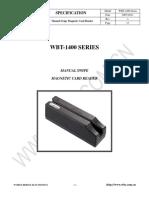 138mm Manual Magnetic Card Reader